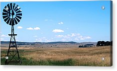 Windmill On The Plains Acrylic Print by Kaleidoscopik Photography