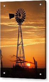 Windmill On The Prairie Acrylic Print