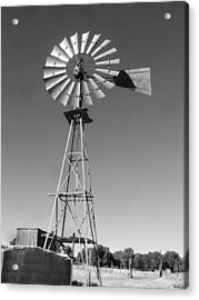 Windmill On The Range Acrylic Print