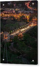 Windmill Over Niblick Bridge Acrylic Print