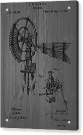 Windmill Patent Barn Wall Acrylic Print