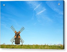 Windmill Portrait Acrylic Print by Kennerth and Birgitta Kullman