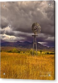 Windmill Acrylic Print by Robert Bales