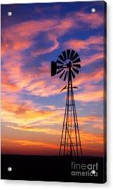 Windmill Silhouette 1 Acrylic Print