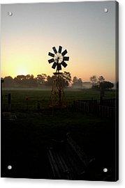 Windmill Sunrise Acrylic Print