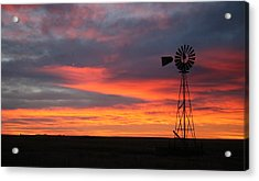 Windmill Sunrise Acrylic Print