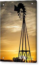 Windmill Sunset Acrylic Print by Mitch Shindelbower