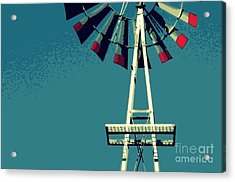 Acrylic Print featuring the digital art Windmill by Valerie Reeves