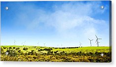 Acrylic Print featuring the photograph Windmill by Yew Kwang