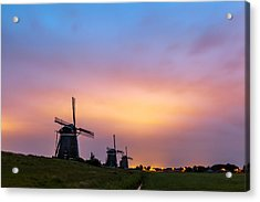 Windmills At Dawn Acrylic Print