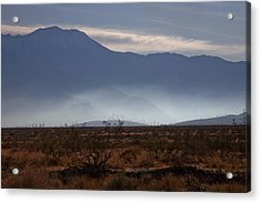 Windmills In The Fog Acrylic Print