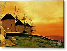 Windmills Of Mykonos Acrylic Print