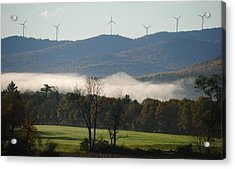 Windmills Acrylic Print by Paul Noble