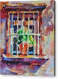 Acrylic Print featuring the painting Window And Cast Shadow by Roger Parent