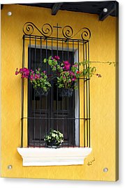 Window At Old Antigua Acrylic Print by Kurt Van Wagner