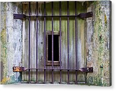 Window At The Fort Acrylic Print by Marie Jamieson