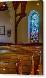 Window Behind The Nave Acrylic Print