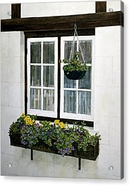 Window Box Acrylic Print by Tom Wooldridge