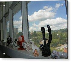Window Buddies Acrylic Print by Bernie Smolnik