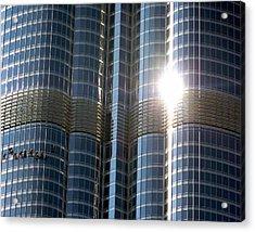 Acrylic Print featuring the photograph Window Cleaners Burj Khalifa by Henry Kowalski