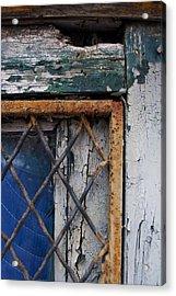 Window Corner Acrylic Print by Gretchen Lally