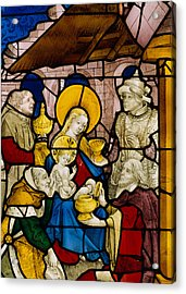 Window Depicting The Adoration Of The Kings Acrylic Print by Flemish School