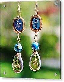 Window Earrings Acrylic Print