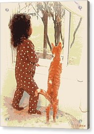 Acrylic Print featuring the photograph Window Gazing  by Heidi Manly