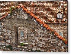 Window In A Window - Dubrovnik Acrylic Print