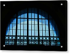 Acrylic Print featuring the photograph Window In Chattanooga Train Depot by Susan  McMenamin