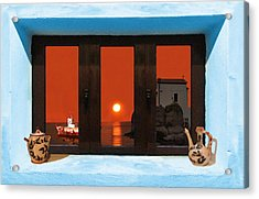 Acrylic Print featuring the photograph Window Into Greece 4 by Eric Kempson