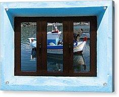 Acrylic Print featuring the digital art Window Into Greece  by Eric Kempson