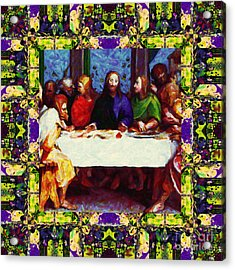 Window Into The Last Supper 20130130m138 Acrylic Print by Wingsdomain Art and Photography