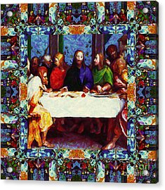 Window Into The Last Supper 20130130p0 Acrylic Print by Wingsdomain Art and Photography