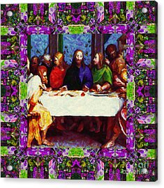 Window Into The Last Supper 20130130p68 Acrylic Print by Wingsdomain Art and Photography