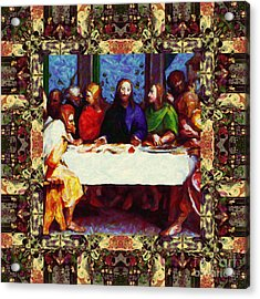 Window Into The Last Supper 20130130sep Acrylic Print by Wingsdomain Art and Photography