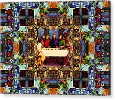 Window Into The Last Supper 20130130v2-horizontal Acrylic Print by Wingsdomain Art and Photography