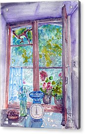 Acrylic Print featuring the painting Window by Jasna Dragun