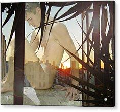 Window Ledge Ghost Boy Acrylic Print