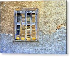 Window Nafplio Acrylic Print by A K Dayton
