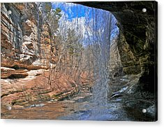 Window Of A Waterfall Acrylic Print by Kathleen Scanlan