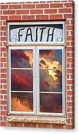 Window Of Faith Acrylic Print