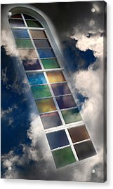 Window Of Healing Vision Acrylic Print by Christina Rollo