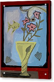 Acrylic Print featuring the painting Window Of Wonders by Artists With Autism Inc