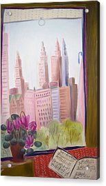 Window On Central Park South Acrylic Print by Tatjana Krizmanic