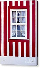 Window On Stripes Acrylic Print by Carlos Caetano