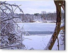 Window On The Lake Acrylic Print by Jim Baker