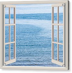 Window On The Sea Acrylic Print by John Vito Figorito
