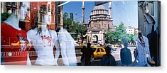 Window Reflection, Istanbul, Turkey Acrylic Print by Panoramic Images