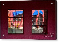 Window Reflections Acrylic Print by Vivian Christopher